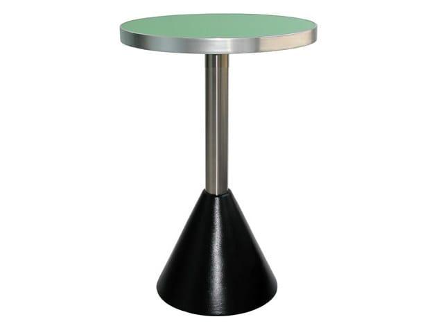 Round cast iron table CLESSIDRA-TV - Vela Arredamenti