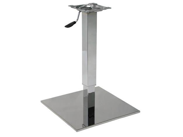 Stainless steel table base SLIM-44-INOX-TEL - Vela Arredamenti