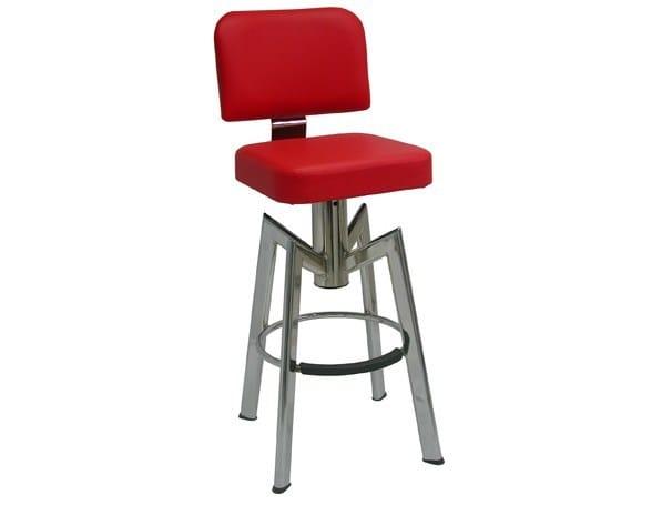 Swivel upholstered counter stool SG098FCR | Counter stool - Vela Arredamenti