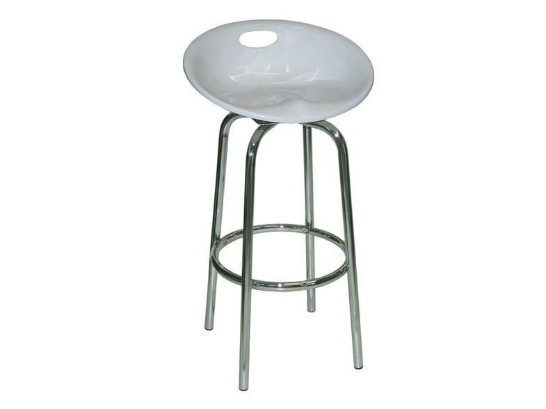 High plastic barstool SG071FCR | Plastic stool - Vela Arredamenti