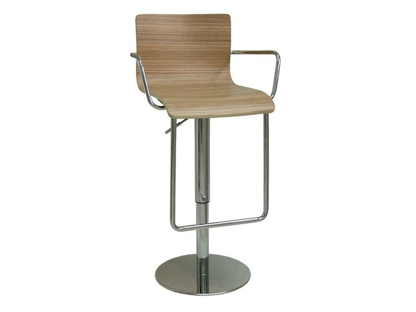 Swivel wooden counter stool SG075GCRGL | Counter stool - Vela Arredamenti