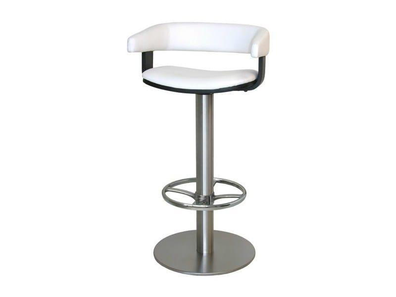 High upholstered stool with armrests SG073FX | Stool - Vela Arredamenti