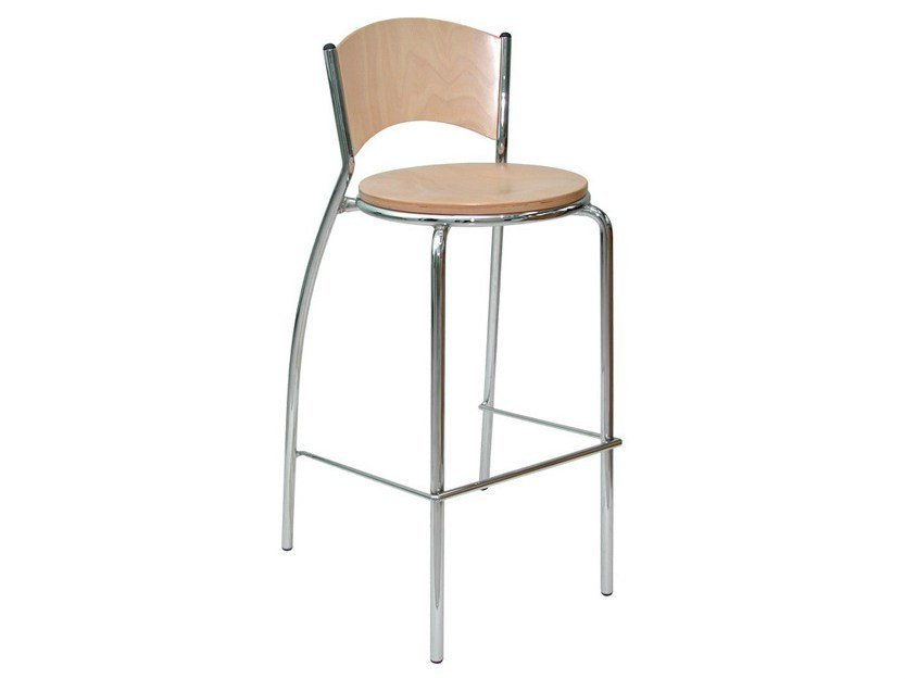 Wooden counter stool SG091FCR | Counter stool - Vela Arredamenti