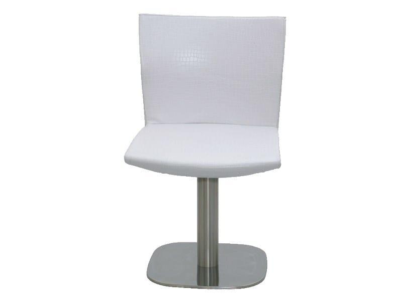 Swivel upholstered high-back imitation leather easy chair PL004 - Vela Arredamenti