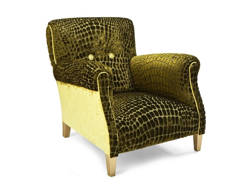 Upholstered Velvet Armchair Crock Urban Collection By Exedra Furniture