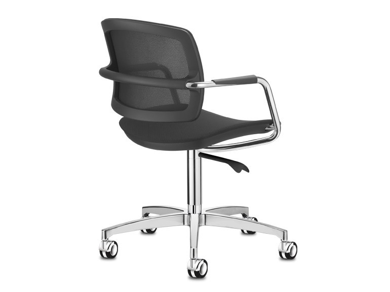 Chair with 4-spoke base with casters PK | Chair with casters - SitLand