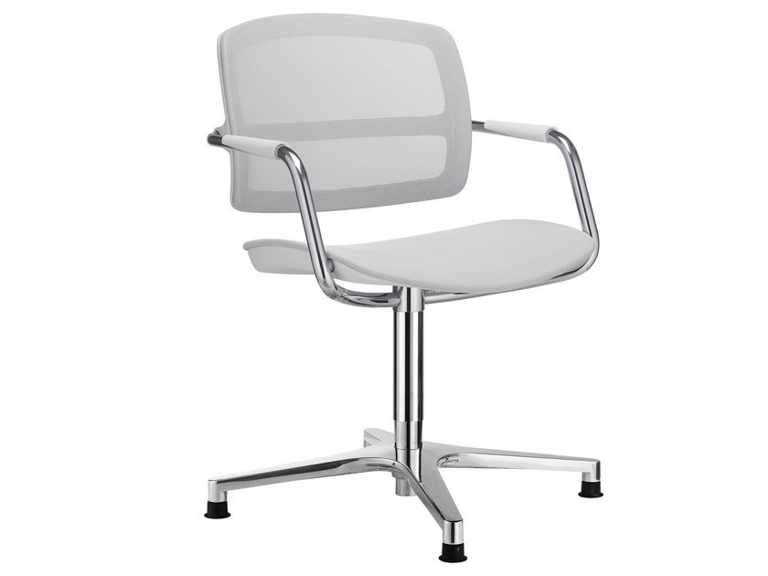 Chair with 4-spoke base with armrests PK | Chair with armrests by SitLand