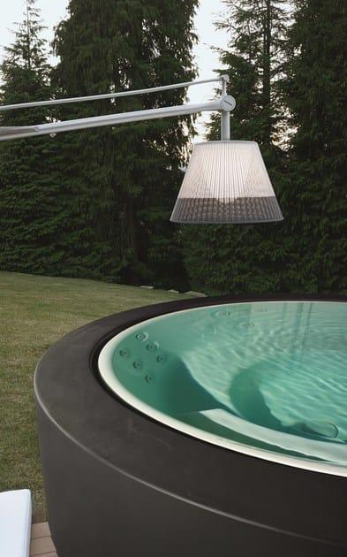 Minipiscina a sfioro rotonda minipool minipiscina a 5 posti kos by zucchetti - Mini pool im garten ...