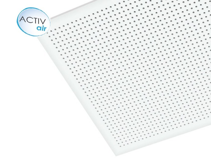 Plasterboard ceiling tiles Gyptone® Activ'Air® Point 11 - Saint-Gobain Gyproc