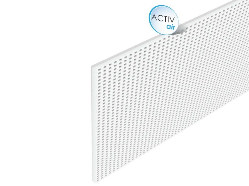 Acoustic plasterboard ceiling tiles Rigitone™ Activ'Air® 12/25 Q by Saint-Gobain Gyproc