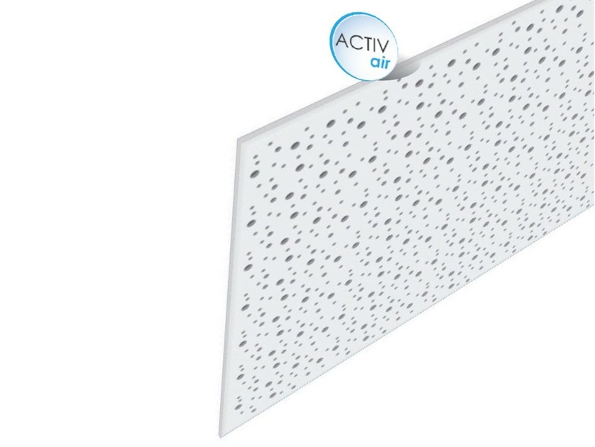 Acoustic plasterboard ceiling tiles Rigitone™ Activ'Air® 8-15-20 SUPER - Saint-Gobain Gyproc