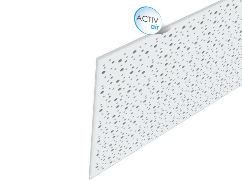 Acoustic plasterboard ceiling tiles Rigitone™ Activ'Air® 8-15-20 - Saint-Gobain Gyproc