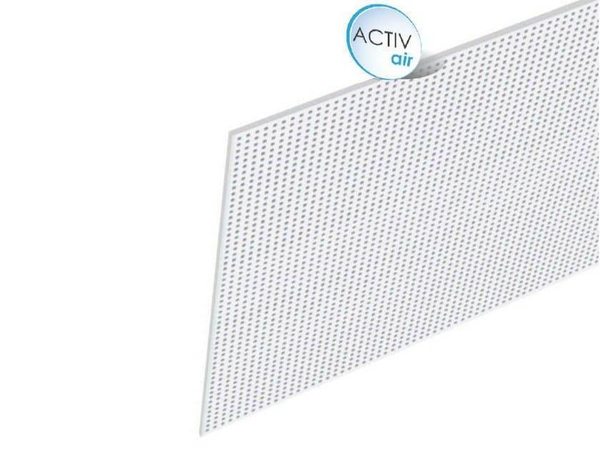 Acoustic plasterboard ceiling tiles Rigitone™ Activ'Air® 8/18 Q - Saint-Gobain Gyproc
