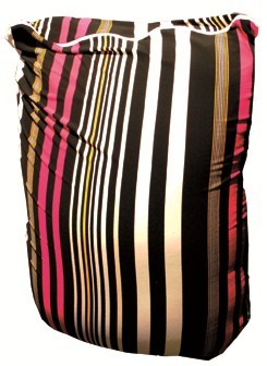 Cotton bean bag with removable lining TOFFEE STRIPES - Puffla