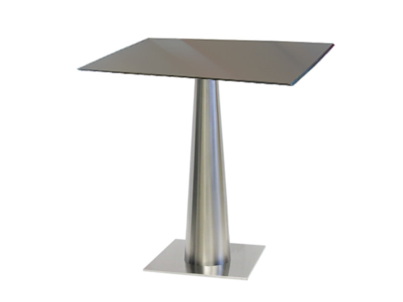 Square stainless steel table SLICONO-44-X by Vela Arredamenti