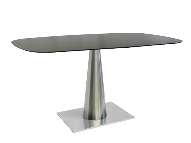 Rectangular stainless steel table SLICONO-64-X by Vela Arredamenti