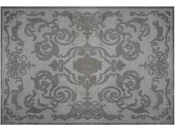 Handmade rectangular rug CARDINAL ANTHRACITE - EDITION BOUGAINVILLE