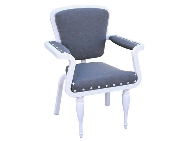 Stackable garden chair PARIS | Chair with armrests - Sérénité Luxury Monaco