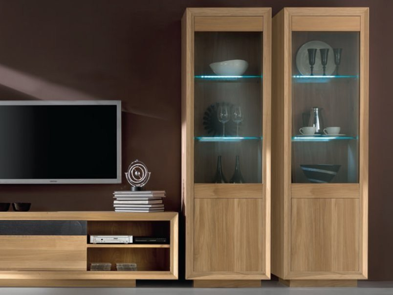 Oak display cabinet BIG TOWER - Domus Arte