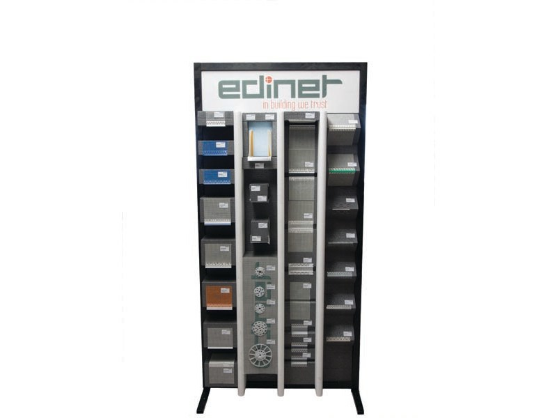 Wooden retail display unit with casters SHOWCASE - EDINET