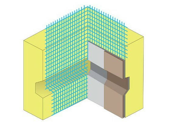 Glass-fibre Mesh and reinforcement for insulation NET GROOVE CORNER - EDINET