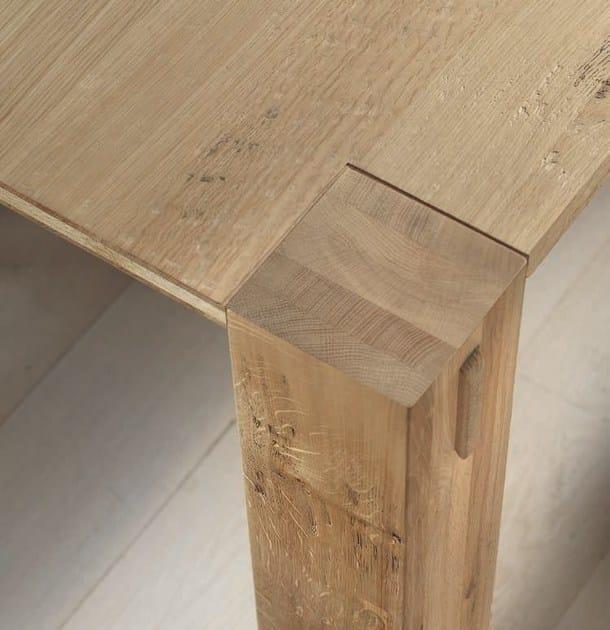 Tavolo allungabile rettangolare in legno massello storia for Tavolo allungabile legno rovere