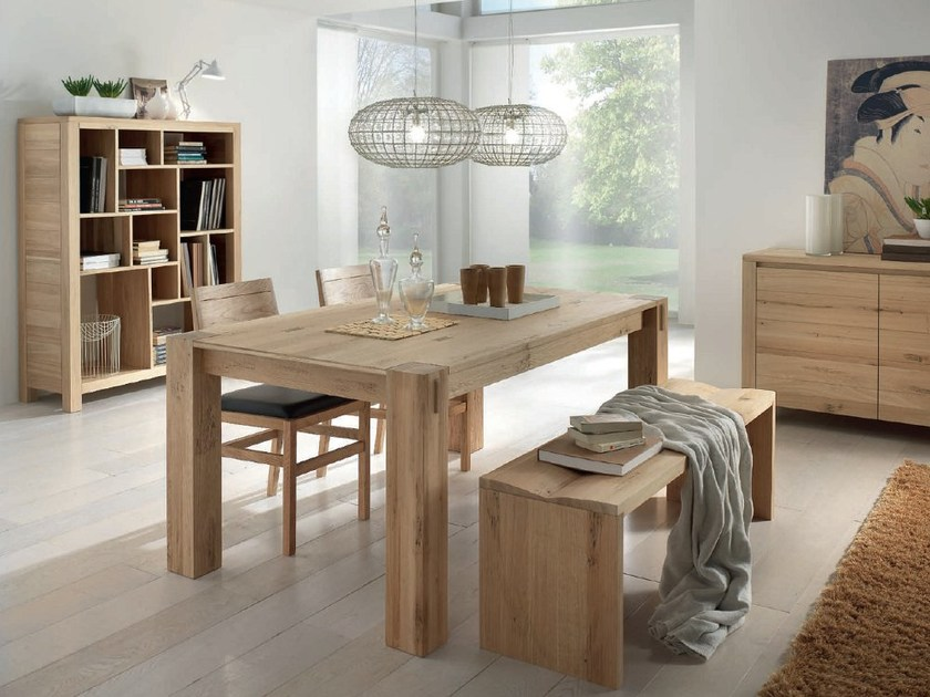 Tavolo allungabile rettangolare in legno massello storia for Tavoli in legno allungabili massello
