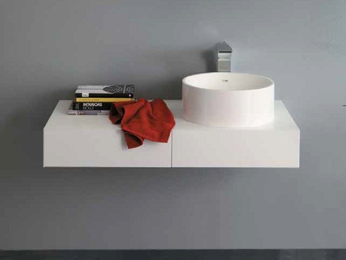 Single washbasin countertop MINIMAL 15 - LA BOTTEGA DI MASTRO FIORE