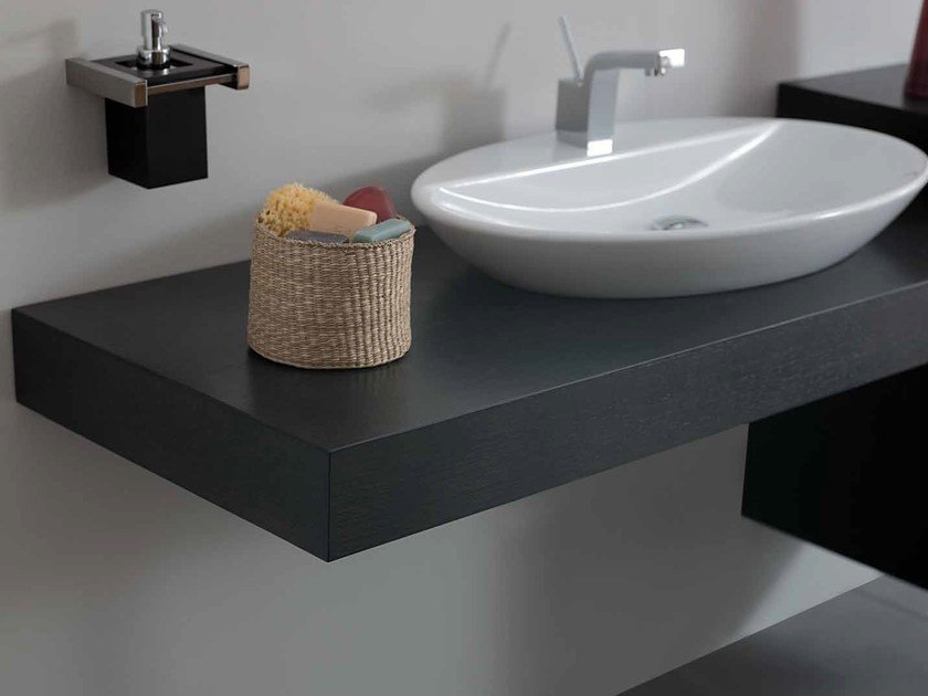 Wooden washbasin countertop SYSTEM | Wooden washbasin countertop - LA BOTTEGA DI MASTRO FIORE