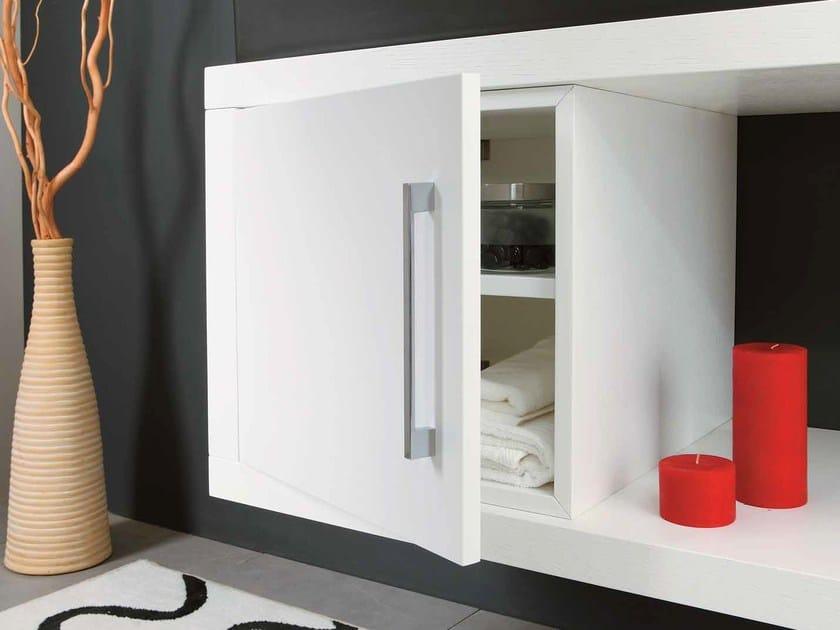 Wooden vanity unit with doors FUN KUBO - LA BOTTEGA DI MASTRO FIORE