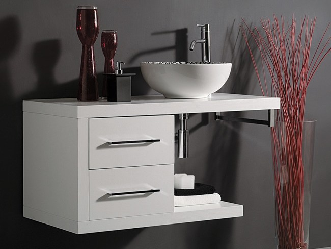 Wooden vanity unit with drawers FUN CLASSIC by Mastro Fiore