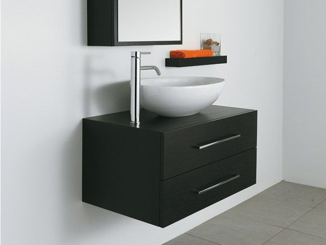 Wall-mounted wooden vanity unit with drawers MORE - LA BOTTEGA DI MASTRO FIORE