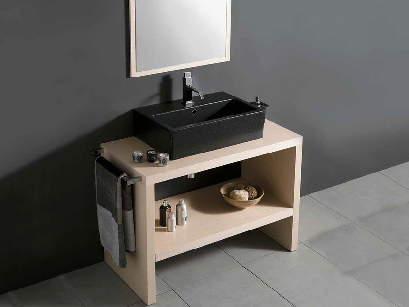 Mobile lavabo in legno bench open mastro fiore for Piani domestici eco compatibili