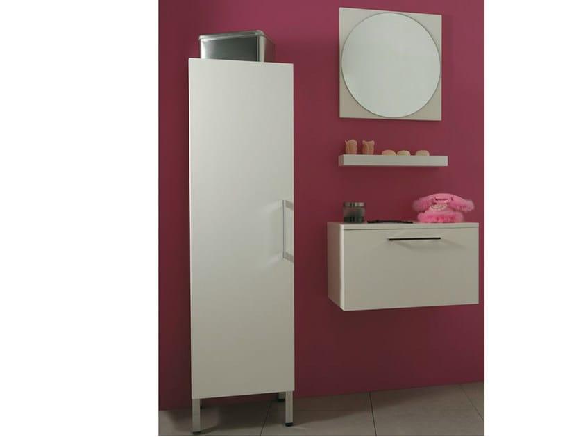 Tall wooden bathroom cabinet with doors SYSTEM | Tall bathroom cabinet - LA BOTTEGA DI MASTRO FIORE