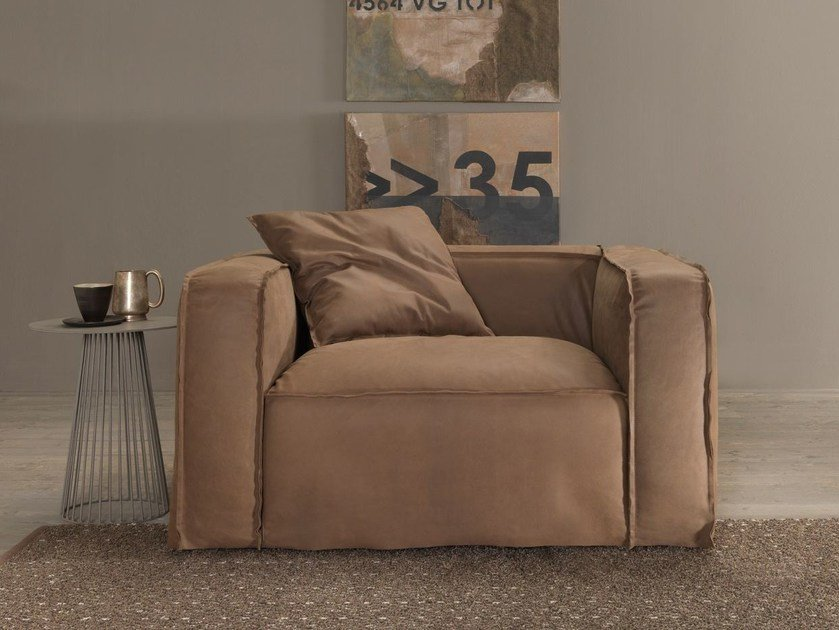 Armchair with removable cover SOFTLY | Armchair - MY home collection