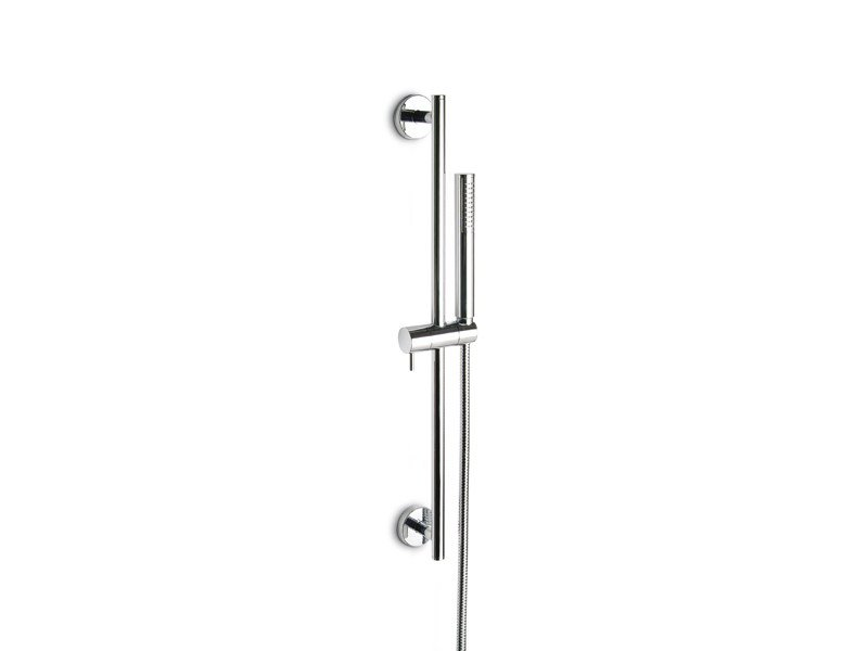 Chrome-plated shower wallbar with hand shower with hose LIBERA | Shower wallbar - NEWFORM