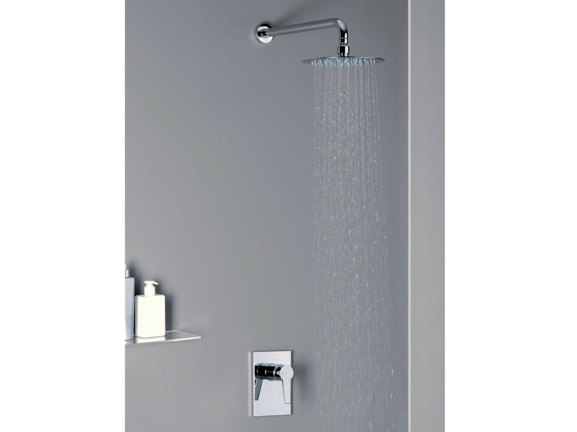 Shower mixer with overhead shower EUROMADE® | Shower mixer with overhead shower - CRISTINA Rubinetterie