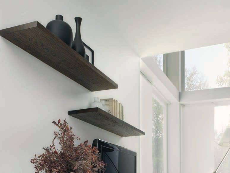 Solid wood wall shelf BELLE - Domus Arte