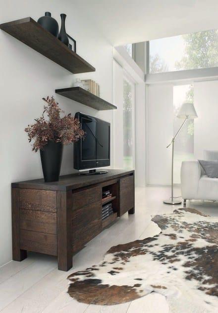 Mensola in legno massello belle domus arte for Mensole legno massello