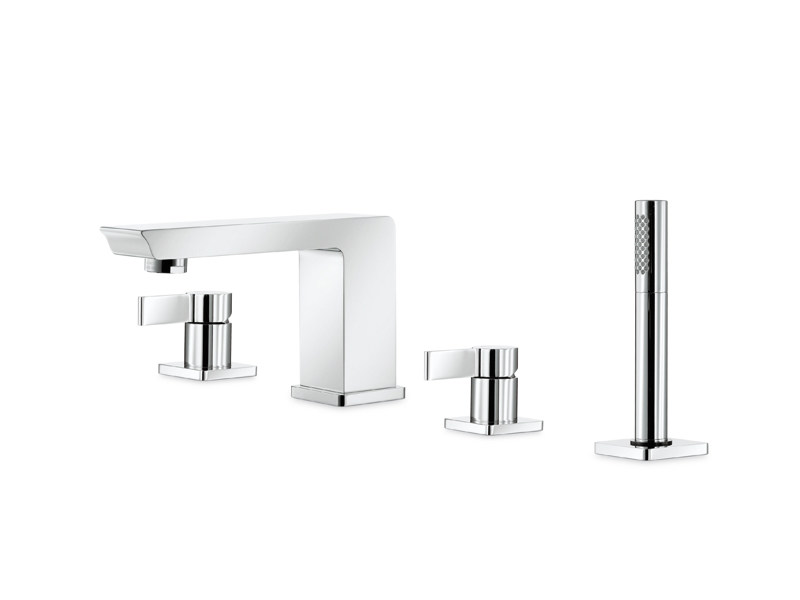4 hole bathtub set with hand shower LIBERA   4 hole bathtub set by newform