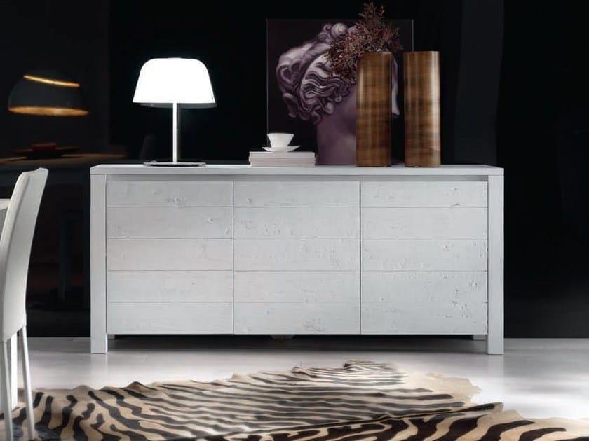 Solid wood sideboard with doors CARLA - Domus Arte