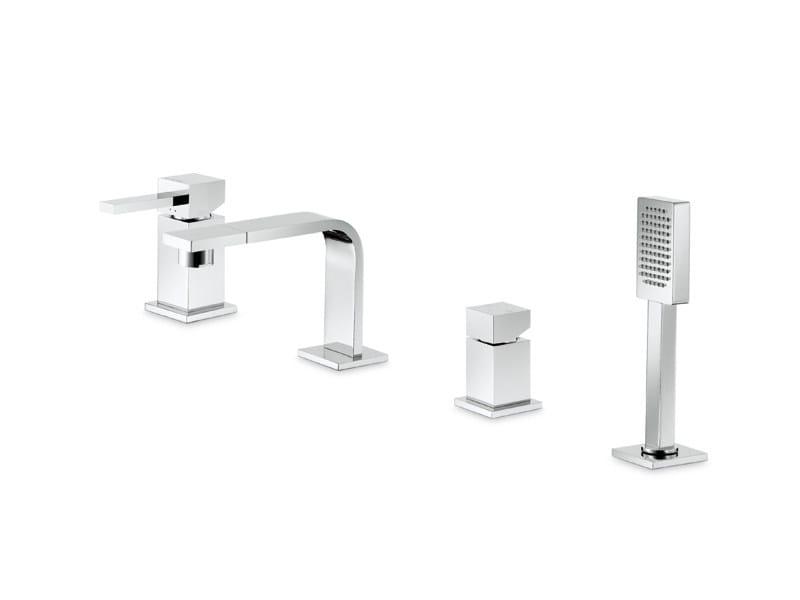 4 hole bathtub tap with hand shower FORMA | 4 hole bathtub set - NEWFORM