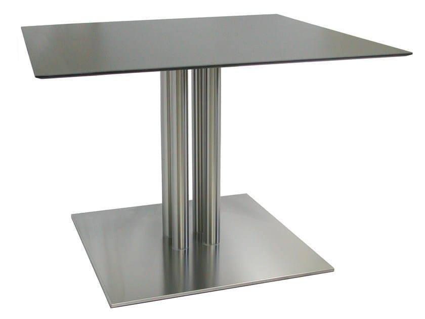 Square stainless steel table SLIM-76-4-T-X - Vela Arredamenti