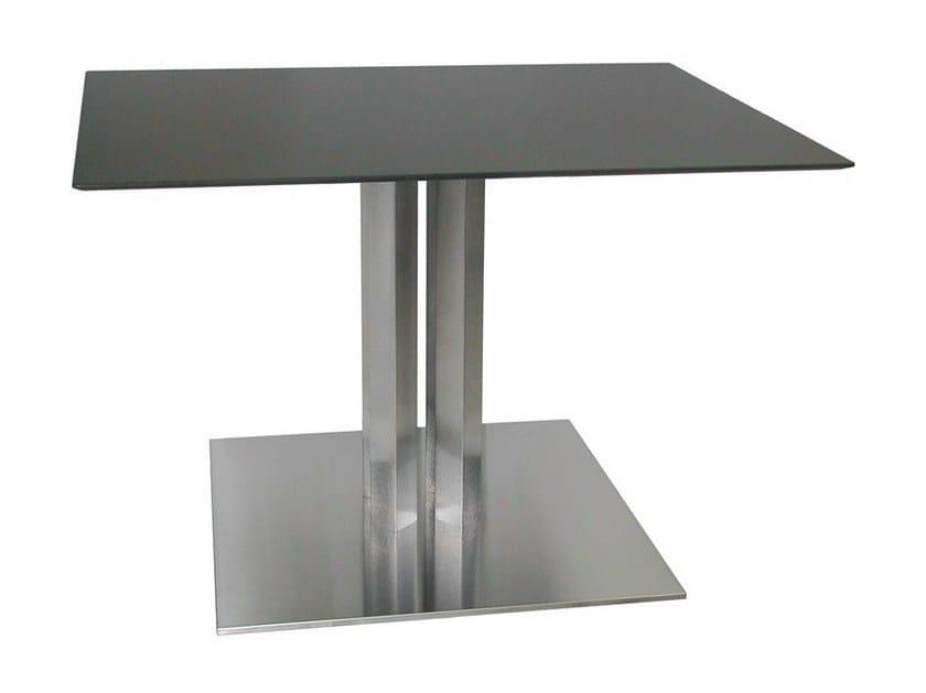 Square stainless steel table SLIM-76-4-X - Vela Arredamenti
