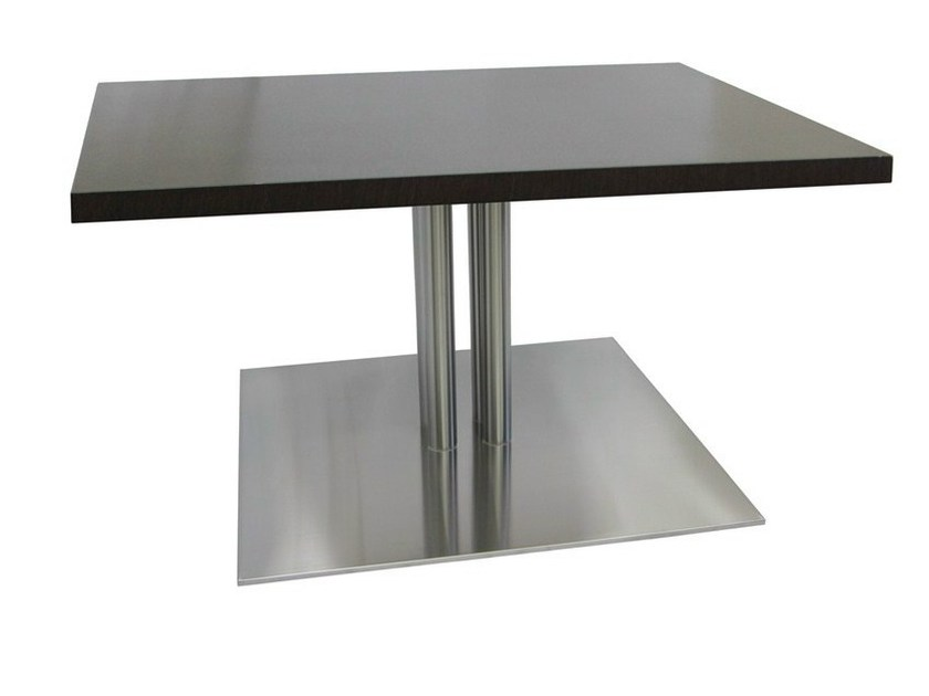 Square stainless steel table SLIM-96-4-T-X by Vela Arredamenti