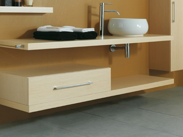 Wooden bathroom cabinet with drawers CSS-B - LA BOTTEGA DI MASTRO FIORE
