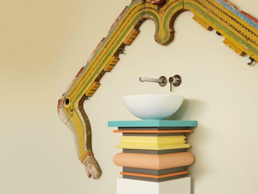 Wall-mounted single handle washbasin mixer without waste ERGO | Wall-mounted washbasin mixer - NEWFORM
