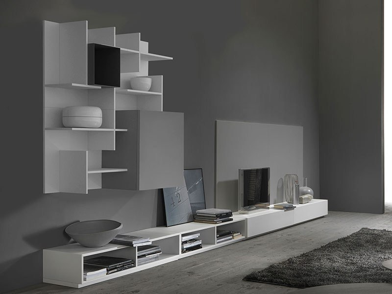 Sectional TV wall system SETTLE - MY home collection