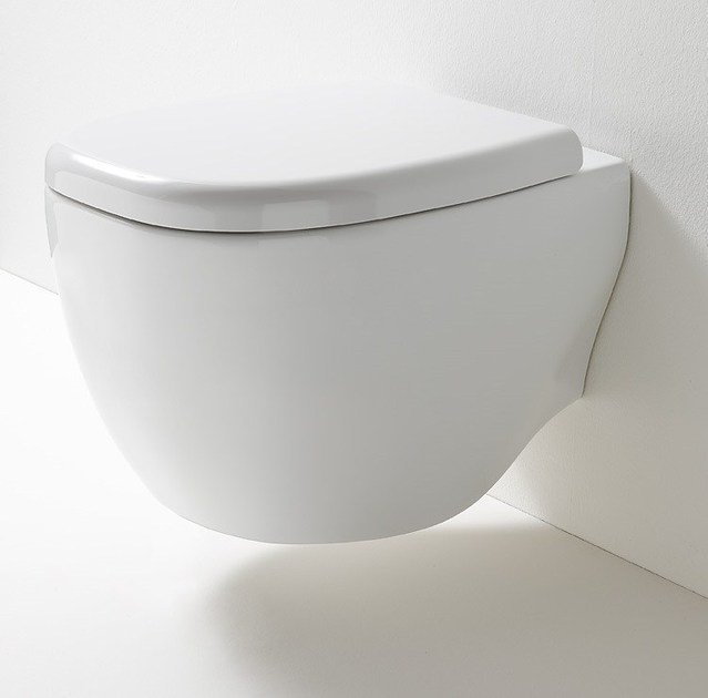 Wall-hung ceramic toilet ABOUT | Wall-hung toilet - Rexa Design