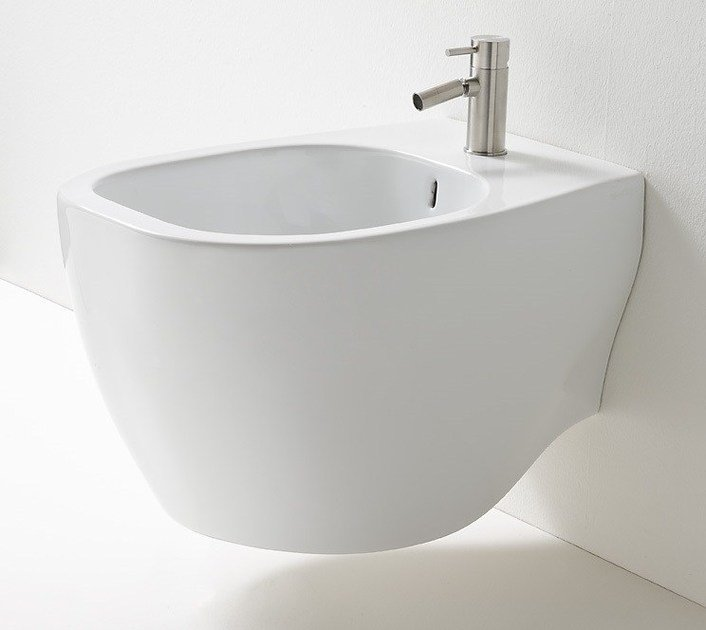 Wall-hung ceramic bidet ABOUT | Wall-hung bidet - Rexa Design